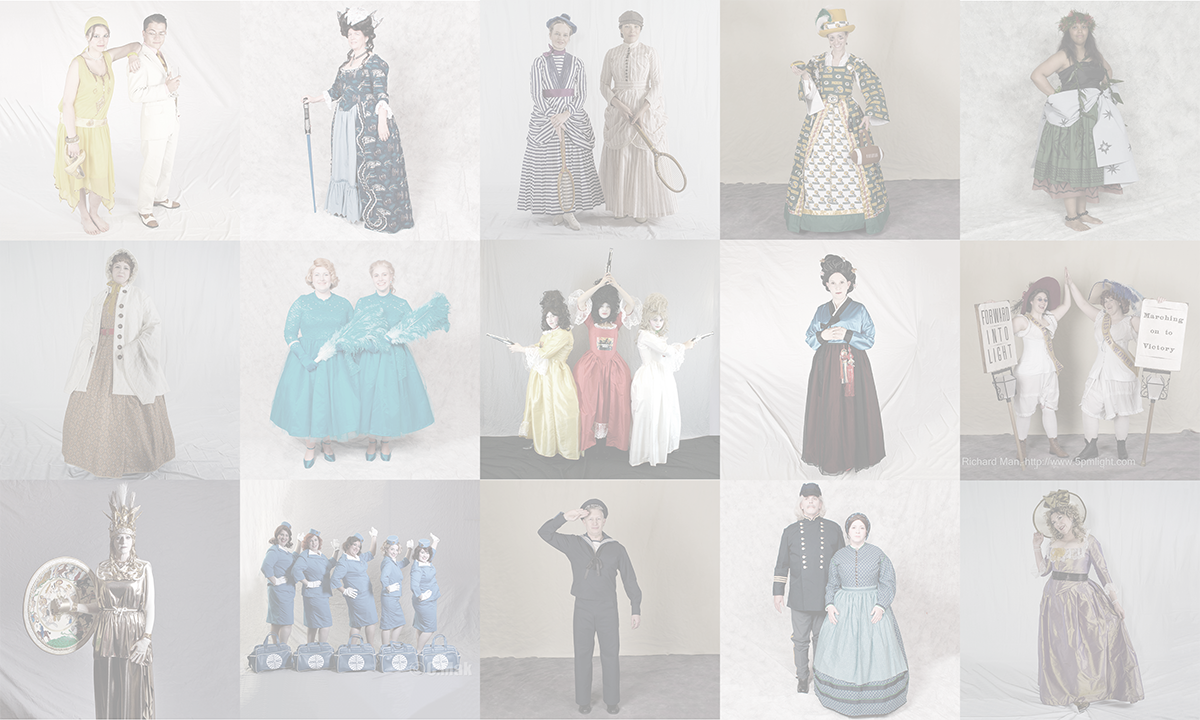 photo montage of Historical costumes